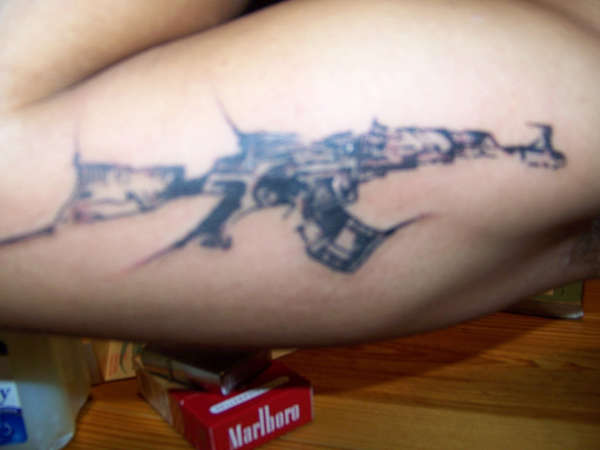 Alaska map tattoo pictures to pin on pinterest tattooskid for Tattoo of ak