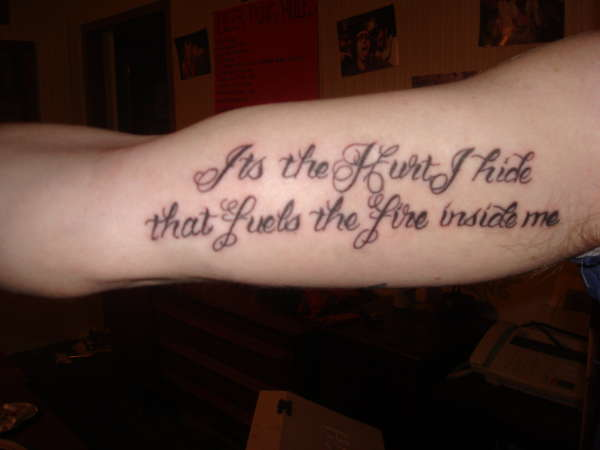 quote from Ray LaMontagne tattoo