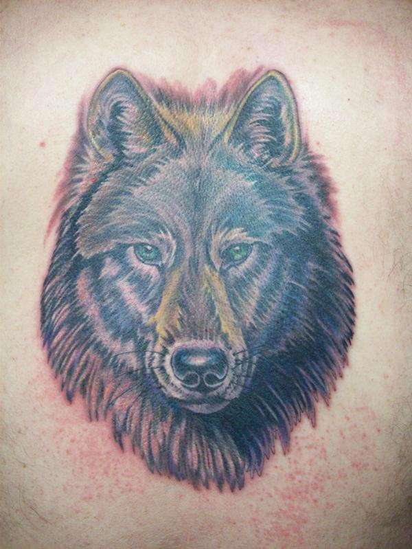 Wolf Back Piece tattoo