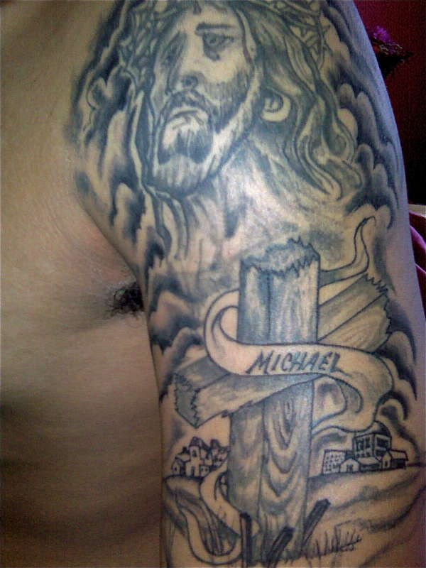 Jesus arm tattoo for Jesus tattoos on arm