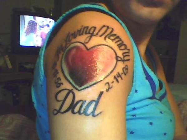 in loving memory of dad tattoo