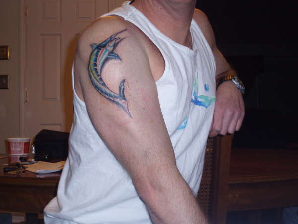Blue Marlin tattoo