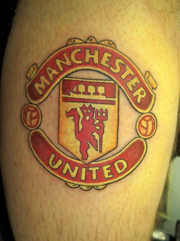 man utd tattoo. Black Bedroom Furniture Sets. Home Design Ideas
