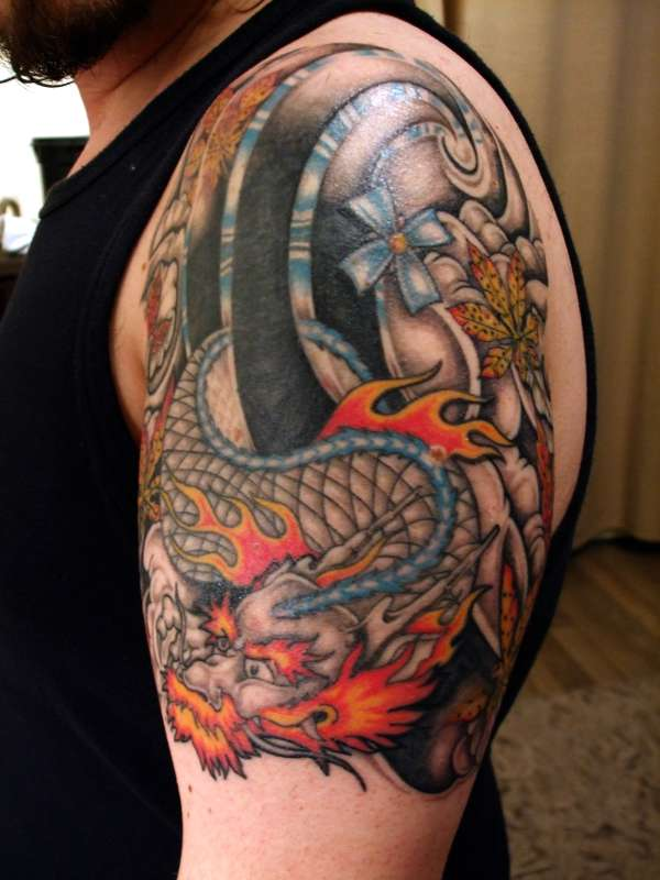 dragon cover up tattoo. Black Bedroom Furniture Sets. Home Design Ideas