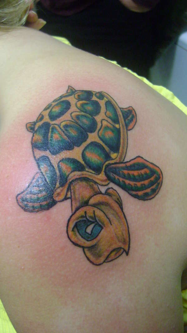 sea turtle.. my first one i ever tattooed tattoo