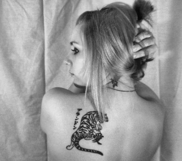 25 Japanese Katakana Tattoos: Tiger Katakana Kanji Tattoo