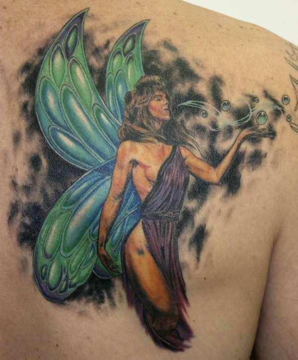 Realistic Faery tattoo