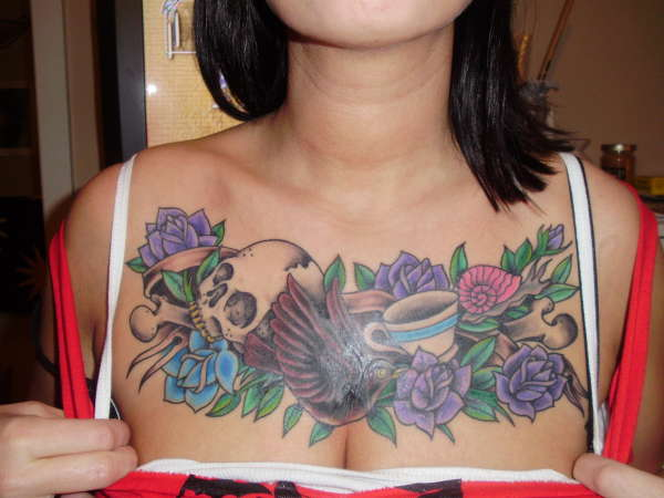 chest cover up tattoo