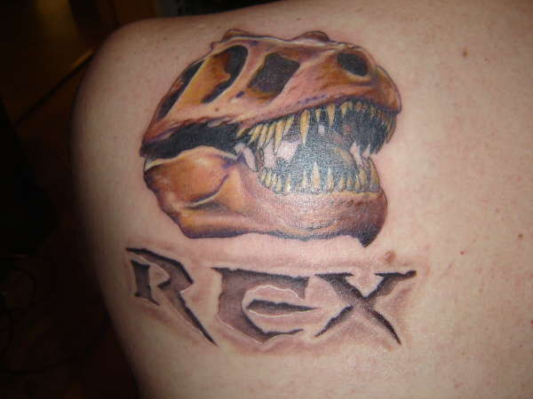 8b7259398 T-REX Skull tattoo
