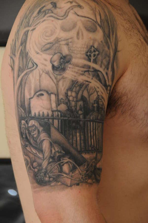 Cemetary Gates tattoo | 600 x 903 jpeg 78kB