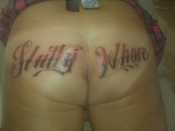 Slutty Whore tattoo
