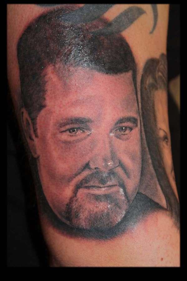 Father;s portrait tattoo