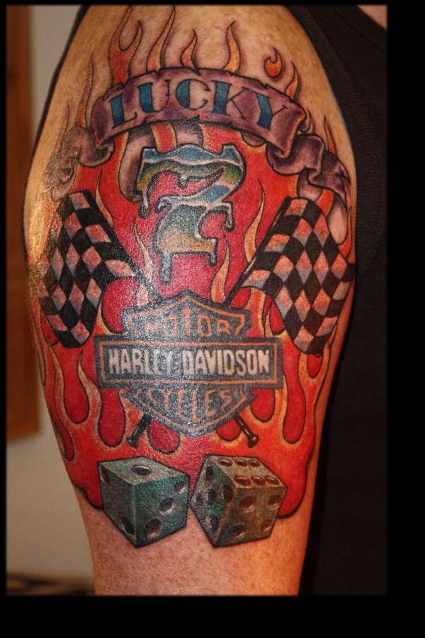 Harley man tattoo