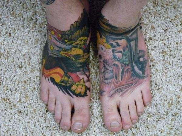 Foot tattoo tattoo