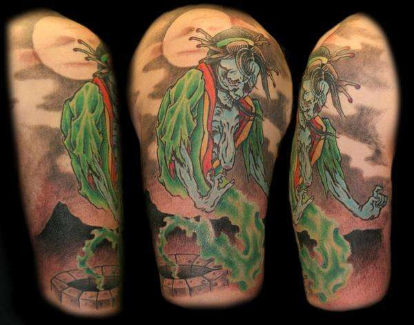 Ghost Of Nine Plates. tattoo
