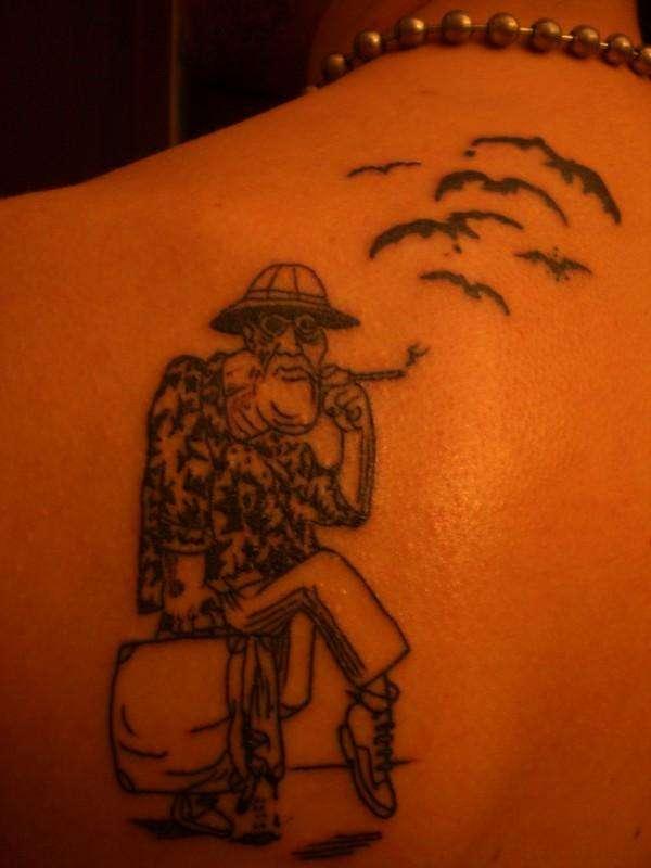 Hunter s thompson tattoo for Hunter s thompson tattoos