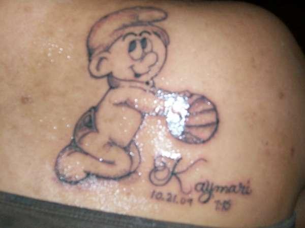 Baby Smurf tattoo