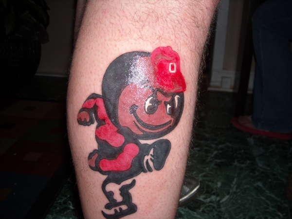 Brutus the Buckeye tattoo