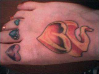 My sore foot tattoo for How sore is a tattoo on your foot
