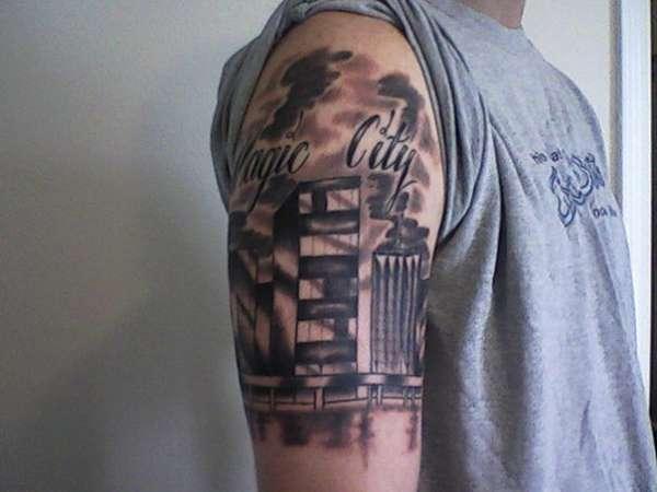 miami skyline tattoo. Black Bedroom Furniture Sets. Home Design Ideas