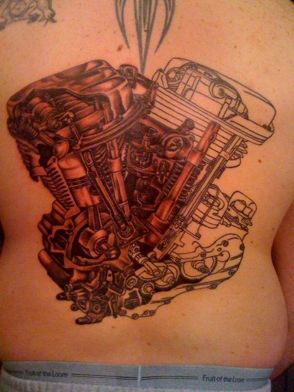 Harley Davidson New Orleans >> Year of the Panhead 1948-65 tattoo