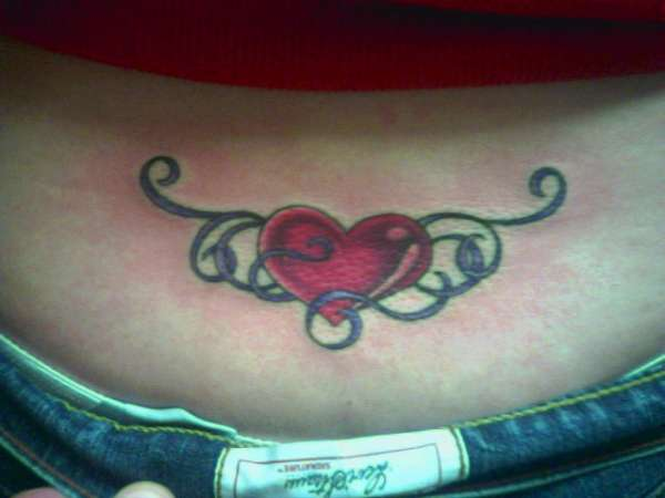 Heart & Ribbon tattoo