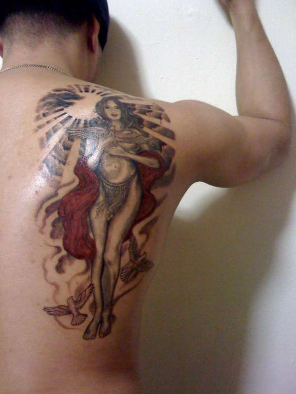 """Aphrodite, The Goddess of Love"" tattoo"