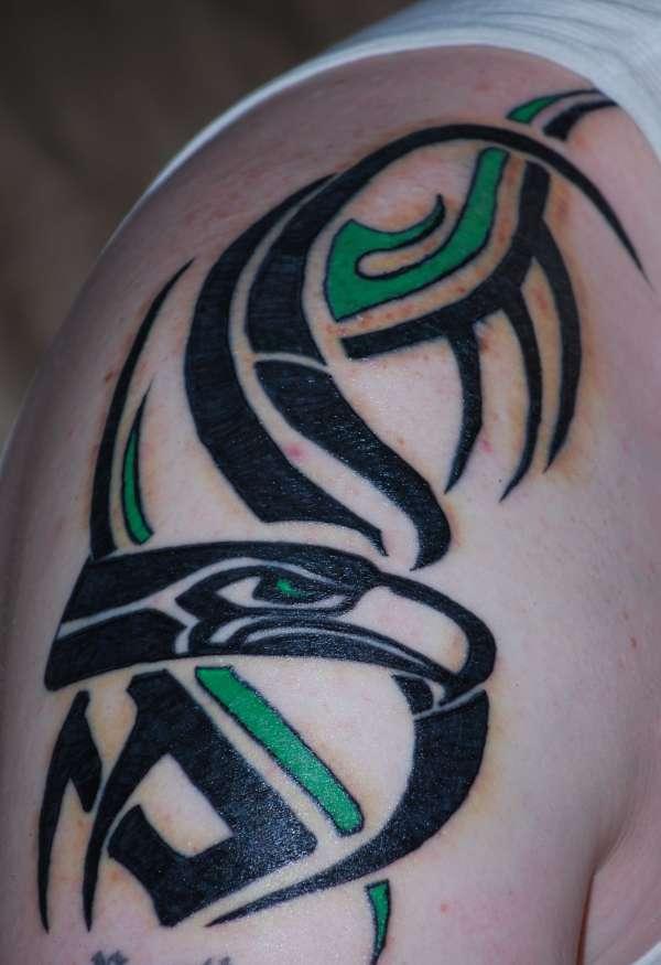 tribal seahawk tattoo