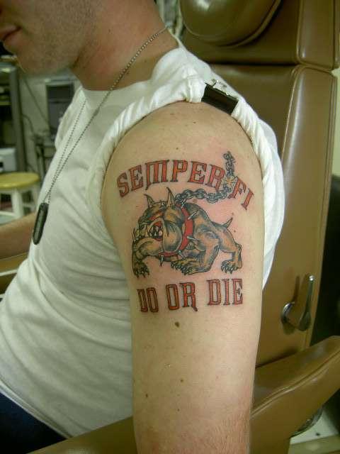 Marine Devil Dog tattoo