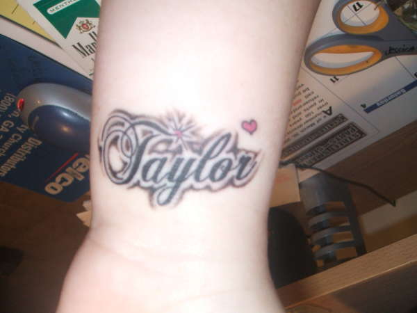 My daughter 39 s name on my wrist tattoo for Daughter name tattoo ideas