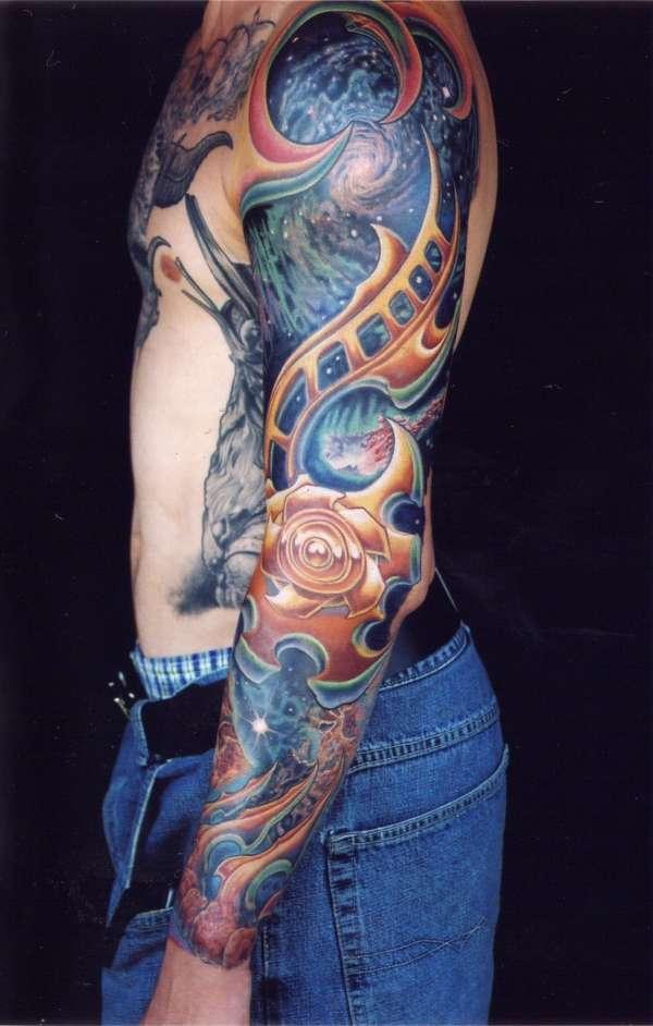 Space Sleeve tattoo
