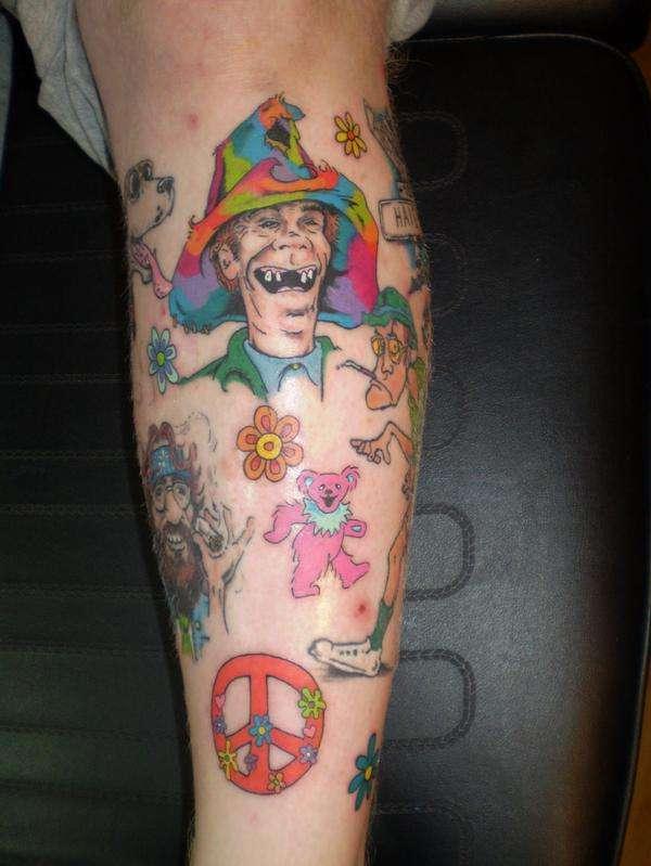 Hippie tattoo