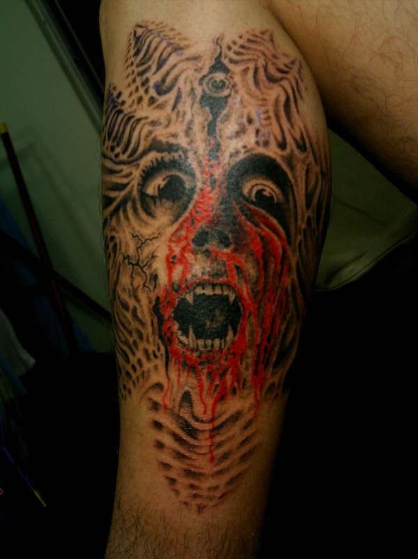 bio face tattoo
