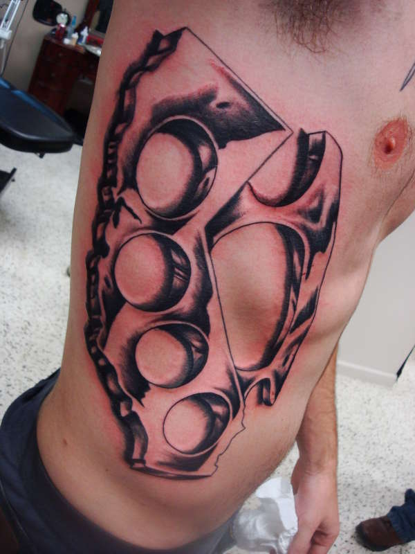 california brass knuckles tattoo