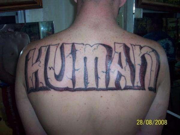 Human tattoo