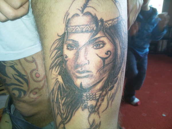 indian lady tattoo