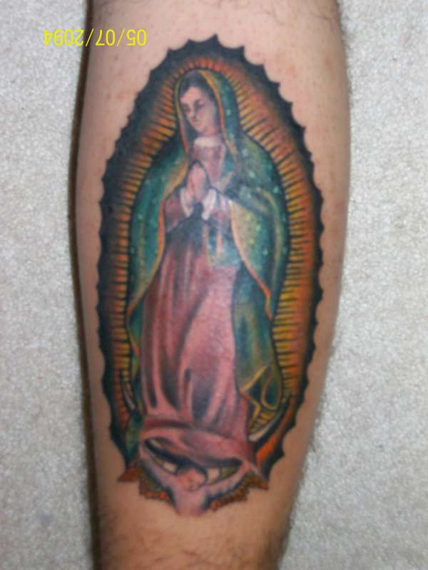 virgin mary tattoo. Black Bedroom Furniture Sets. Home Design Ideas