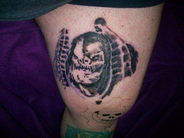 General raam from gears of war video game tattoo for Gears of war logo tattoo