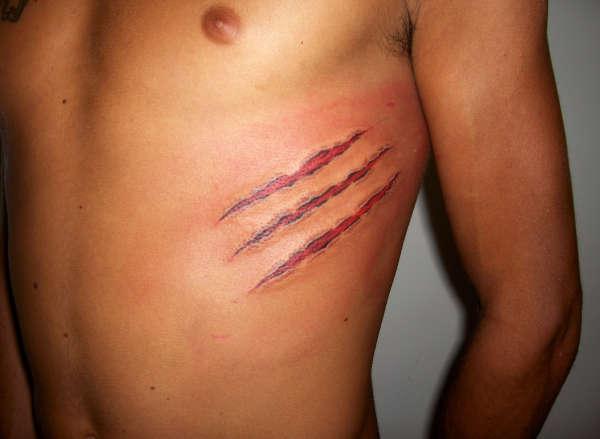 Claw Marks tattoo