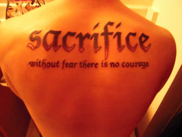 Sacrifice tattoo