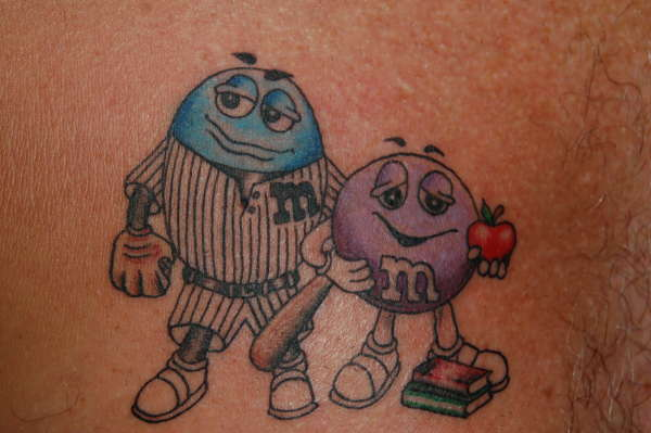 M&M's tattoo