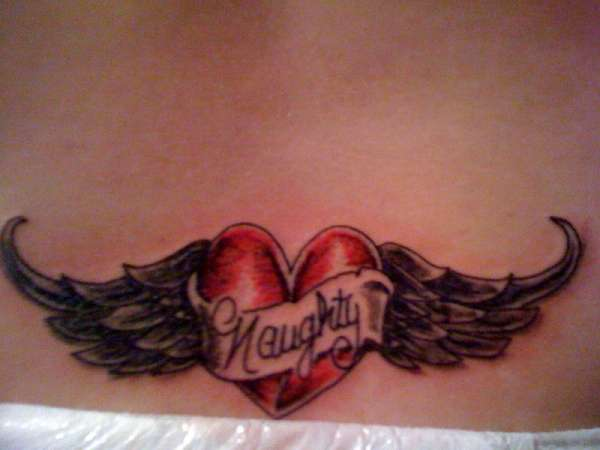 Angel Wings/ Heart tattoo