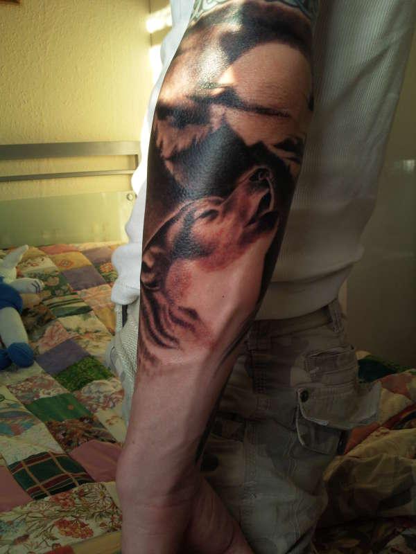 wolf (unfinished) tattoo