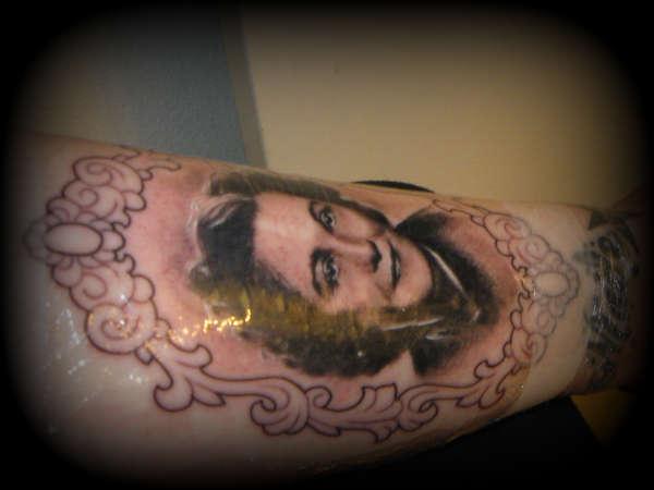 my mama rose<3 still swollen tattoo