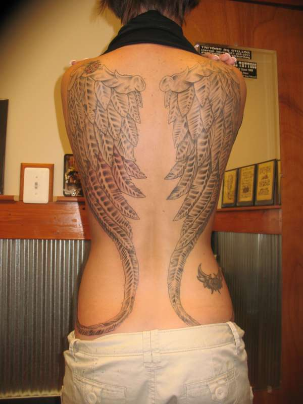 Angel wings to fly you to heaven tattoo