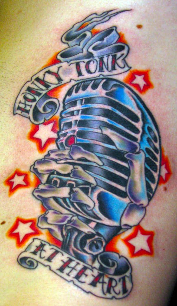 Hinder mic tattoo