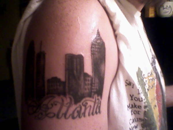 atlanta skyline tattoo