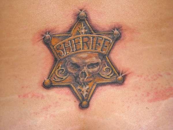 Sheriff Badge tattoo
