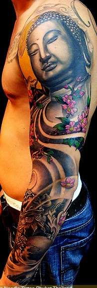 left sleeve with color... tattoo