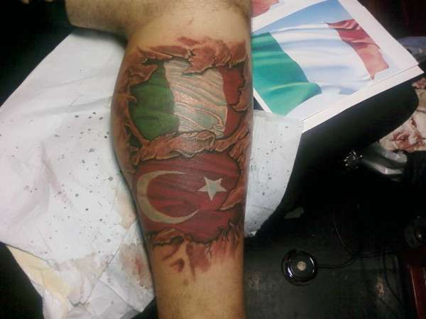 Flags tattoo
